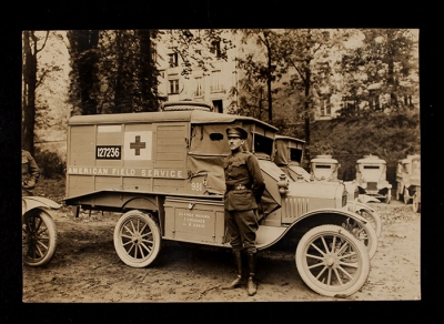 American Field Service Ambulance 981 with driver