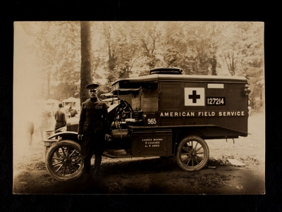 American Field Service Ambulance 965 with driver