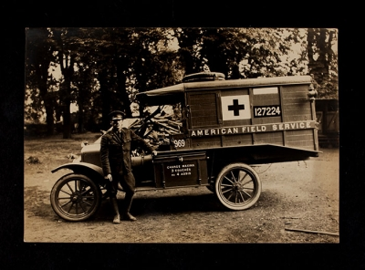American Field Service Ambulance 969 with driver