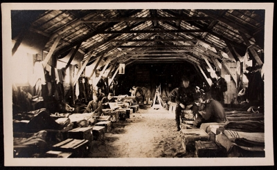Men in barracks at 21 rue Raynouard