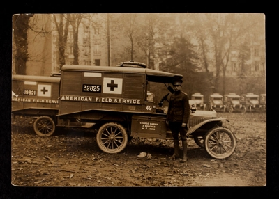 American Field Service Ambulance 49 with driver