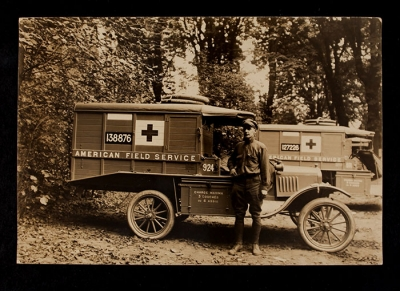 American Field Service Ambulance 924 with driver