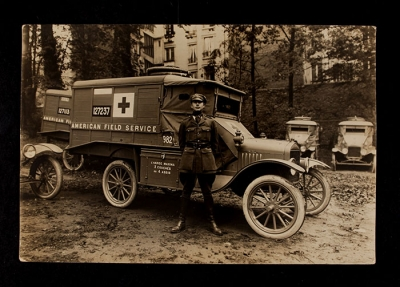 American Field Service Ambulance 982 with driver