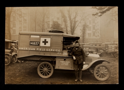 American Field Service Ambulance 205 with driver