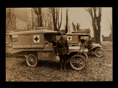 American Field Service Ambulance 191 with driver