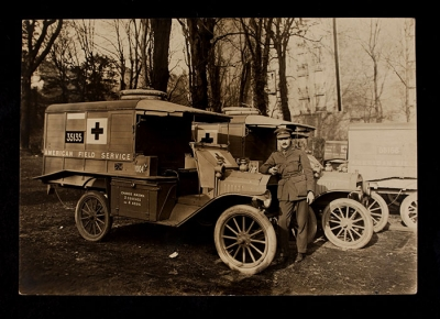 American Field Service Ambulance 1004 with driver