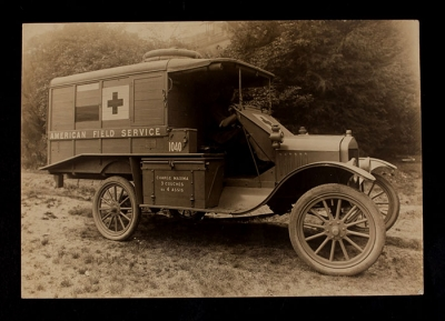 American Field Service Ambulance 1061 with driver