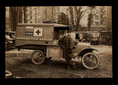 American Field Service Ambulance 397 with driver