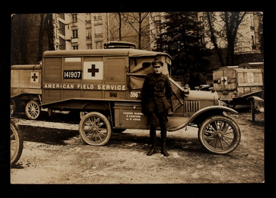 American Field Service Ambulance 396 with driver