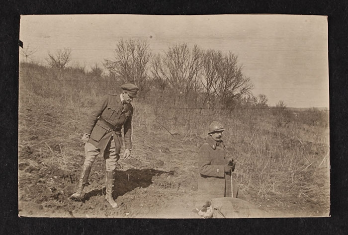 A. Piatt Andrew with French soldier