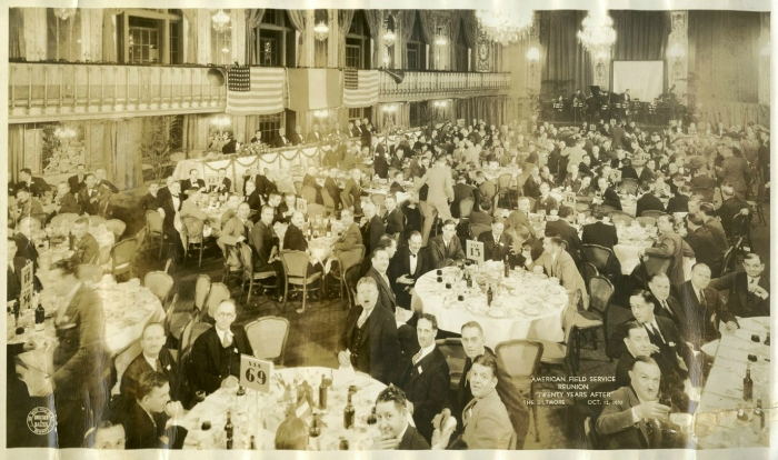 AFS Reunion at the Biltmore, NY, October 12, 1935
