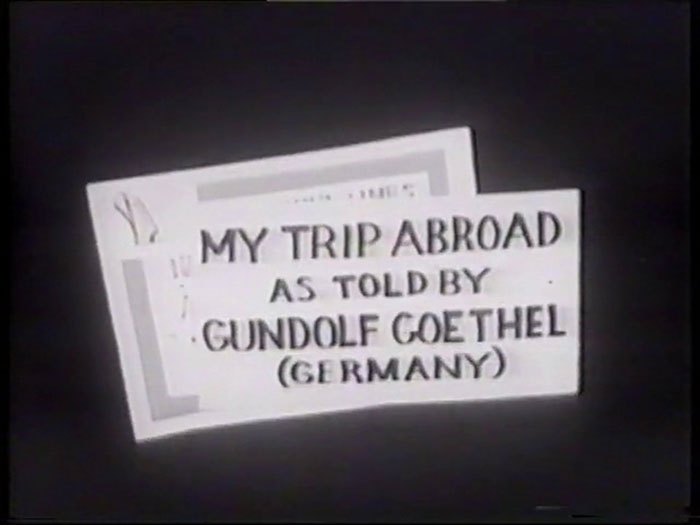 My Trip Abroad, 1954
