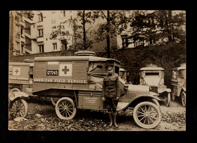 American Field Service Ambulance 990 with driver