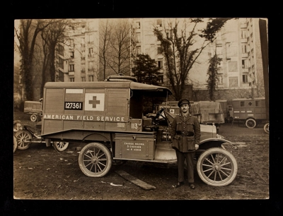 American Field Service Ambulance 113 with driver
