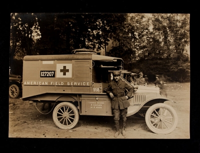 American Field Service Ambulance 958 with driver