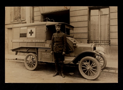 American Field Service Ambulance 1081 with driver