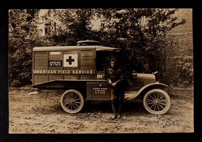 American Field Service Ambulance 894 with driver
