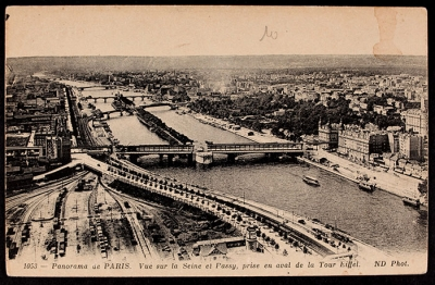 Panoramic view of Paris (postcard)