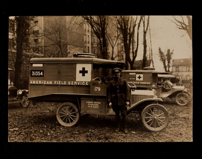 American Field Service Ambulance 179 with driver