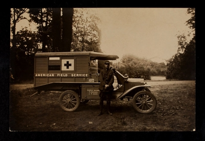 American Field Service Ambulance 1072 with driver