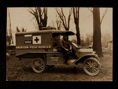 American Field Service Ambulance 200 with driver