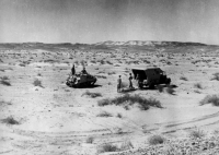 AFS Free French unit collecting casualty in North Africa